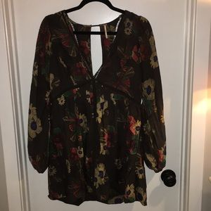 Free People floral design tunic